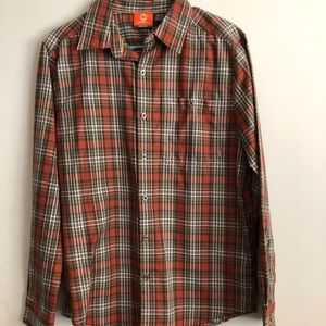Merrell - Plaid Button Front Shirt - Long Sleeve